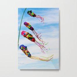 Bali - Flying Colorful Kites Metal Print