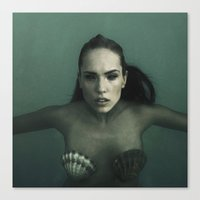 siren Canvas Prints featuring Siren by Christian J. Sweet