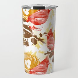 Cardinal Chickadee Pattern Travel Mug