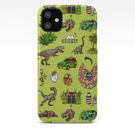 Jurassic pattern lighter iPhone Case