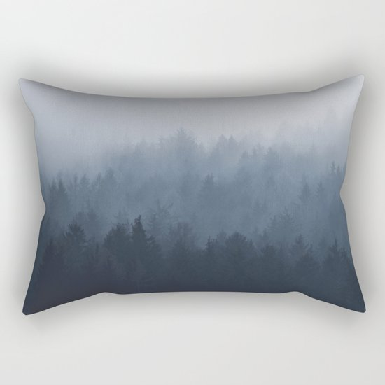 Fog in the forest Rectangular Pillow