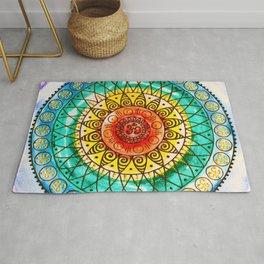 OM - Chakra Mandala - Rainbow - Charm Rug