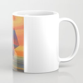 Red Sails in the Sunset Cubist Junk Abstract Coffee Mug