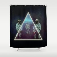 trip Shower Curtains featuring Planning the trip by Seamless