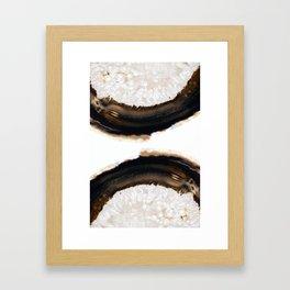 Agate Translucent #Brown #1 #decor #art #society6 Framed Art Print