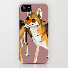 Senegalese Wolf in Pink iPhone Case