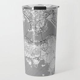 Hong Kong Map Line Travel Mug