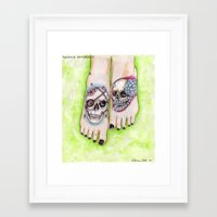 feet Framed Art Prints featuring feet by musentango87