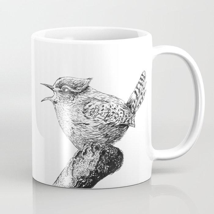 Wren bird ink painting Coffee Mug by katerinamitkova   Society6