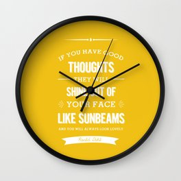 Roald Dahl quote - Yellow Wall Clock