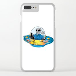 "Alien Spaceship ""Warp Speed"" Clear iPhone Case"