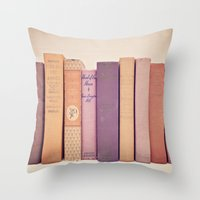 literary Throw Pillows featuring Literary Gems II by Laura Ruth