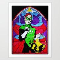 religion Art Prints featuring heroic religion by Flo Zero