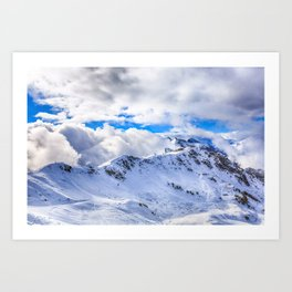 Caucasian ridge Art Print