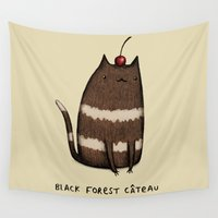 baking Wall Tapestries featuring Black Forest Câteau by Sophie Corrigan