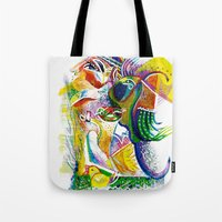 bookworm Tote Bags featuring Bookworm by CrismanArt