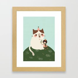 You Keep Me Warm Framed Art Print