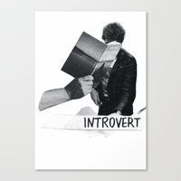 introvert Canvas Prints featuring introvert by singh✧bean