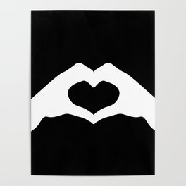 Hands making a heart shape- portraying love Poster