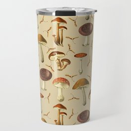Wild Forest Mushroom Pattern Travel Mug