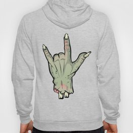 Zombie Devil Horns Undead Severed Hand Halloween T-Shirt Hoody