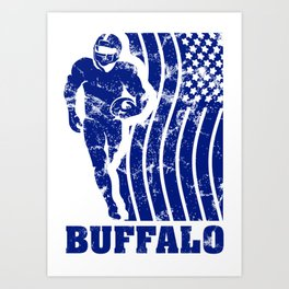 Buffalo Football Art Print