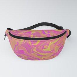 Pink, Orange, and Yellow Swirl Fanny Pack