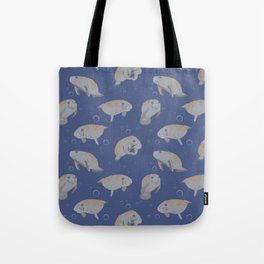Manatees and Bubbles Tote Bag