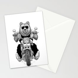 carefree bear Stationery Cards