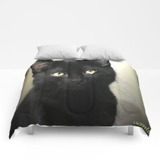 Swoozle's Black Cat in Repose Comforters