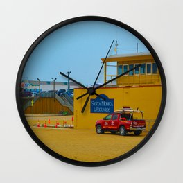 Santa Monica Lifeguards Wall Clock