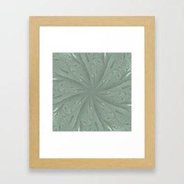 Lost in the Laurels Fractal Bloom Framed Art Print