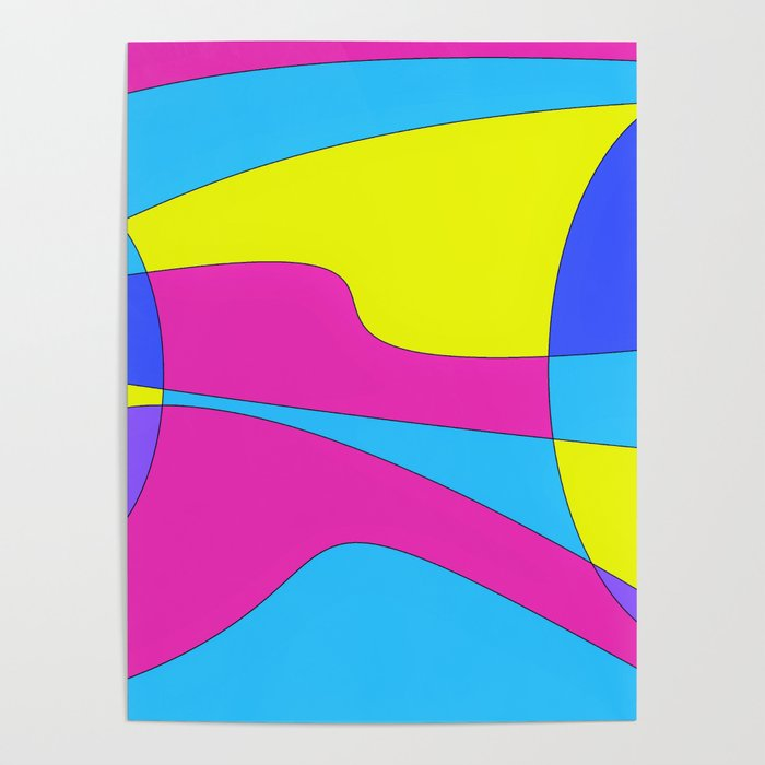 Colors in Sound Neon Poster