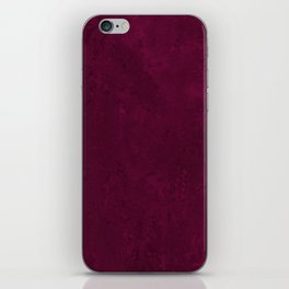 Hand painted modern abstract burgundy marble watercolor iPhone Skin