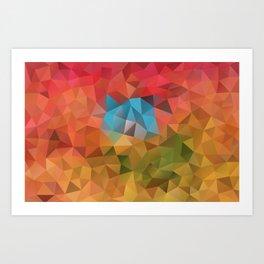 Autumn pattern WND Art Print