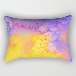 Arabian Nights Watercolor Texture Rectangular Pillow