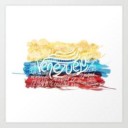 Te amo-Me amas Venezuela Art Print