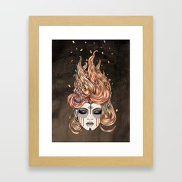 Died Young, Stayed Pretty Framed Art Print