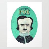 edgar allan poe Art Prints featuring Edgar Allan Poe by Mary Kate McDevitt