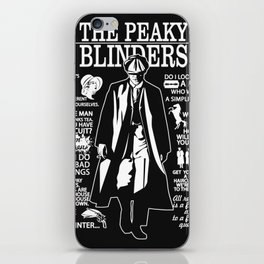 Peaky Quotes iPhone Skin