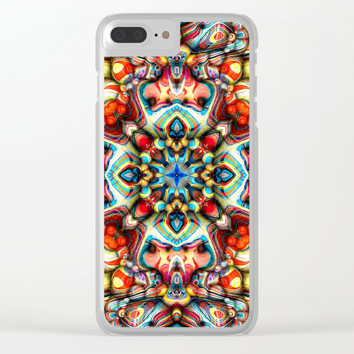 Colorful Shapes Abstract Clear iPhone Case
