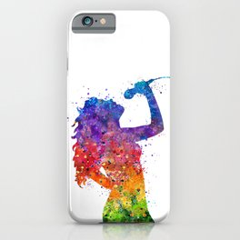 Girl Singer Colorful Watercolor iPhone Case