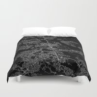 stockholm Duvet Covers featuring Stockholm  by Line Line Lines