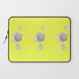 Ostrich on Monocycle Laptop Sleeve