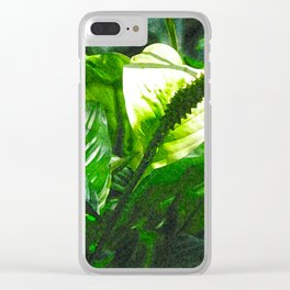 waxy leaves Clear iPhone Case
