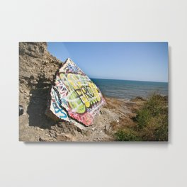 Sunken City Graffiti Metal Print
