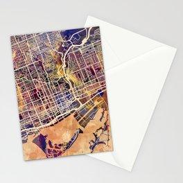 Toronto Canada Street Map Stationery Cards