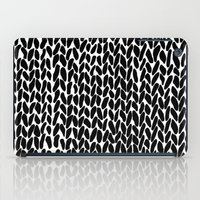 lawyer iPad Cases featuring Hand Knitted Black S by Project M