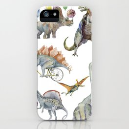 PARTY OF DINOSAURS iPhone Case