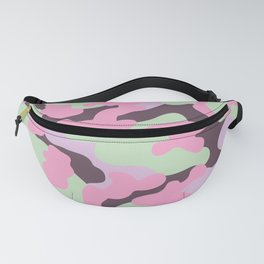 Mint Camouflage Fanny Pack